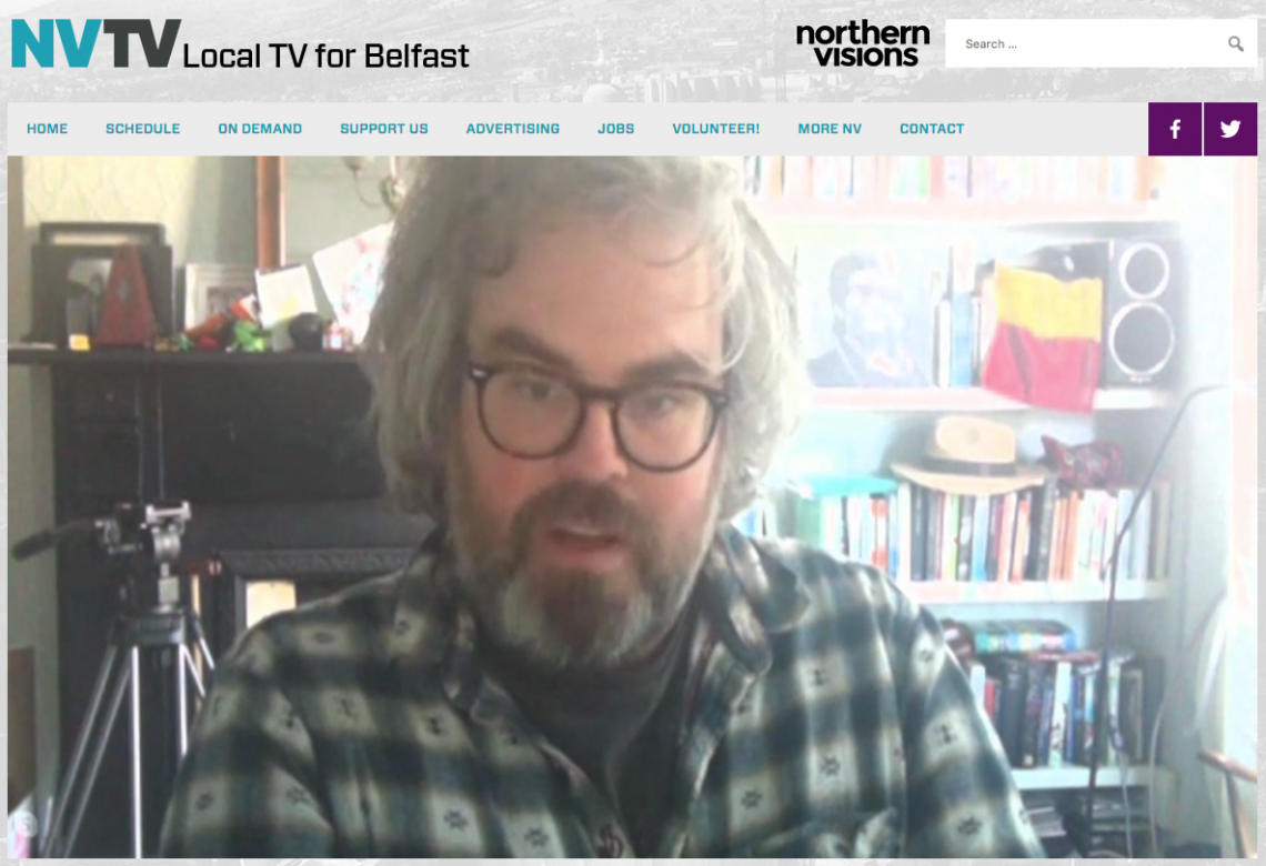 NVTV screenshot showing artist Jonathan Brennan