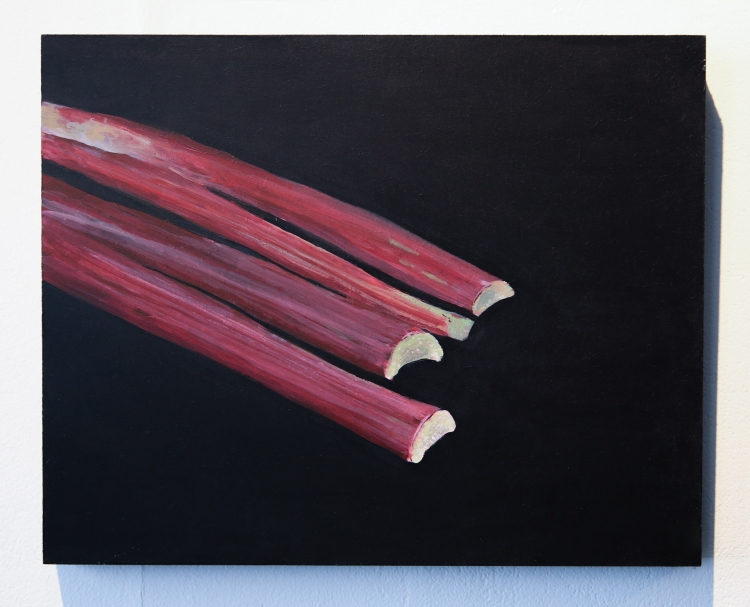 Rhubarb, Captain's Avenue. Acrylic on panel © Jonathan Brennan, 2019