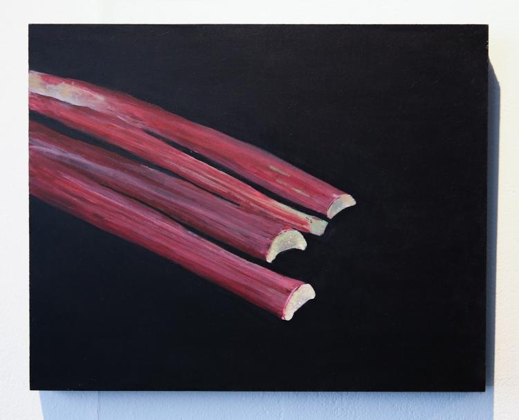 Rhubarb, Captain's Avenue. Acrylic on panel © Jonathan Brennan, 2019