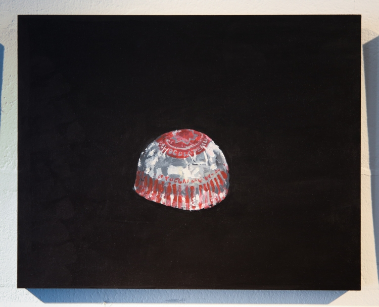 Tunnocks Teacake. Acrylic on panel © Jonathan Brennan, 2019