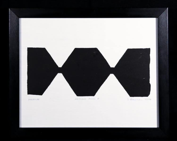 Abstract Alley II - monotype on Zerkall paper © Jonathan Brennan, 2017