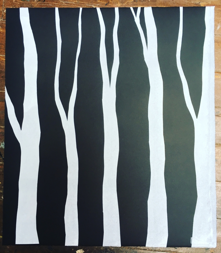 Dark Hedges - screenprint on Revere Magnani © Jonathan Brennan, 2018