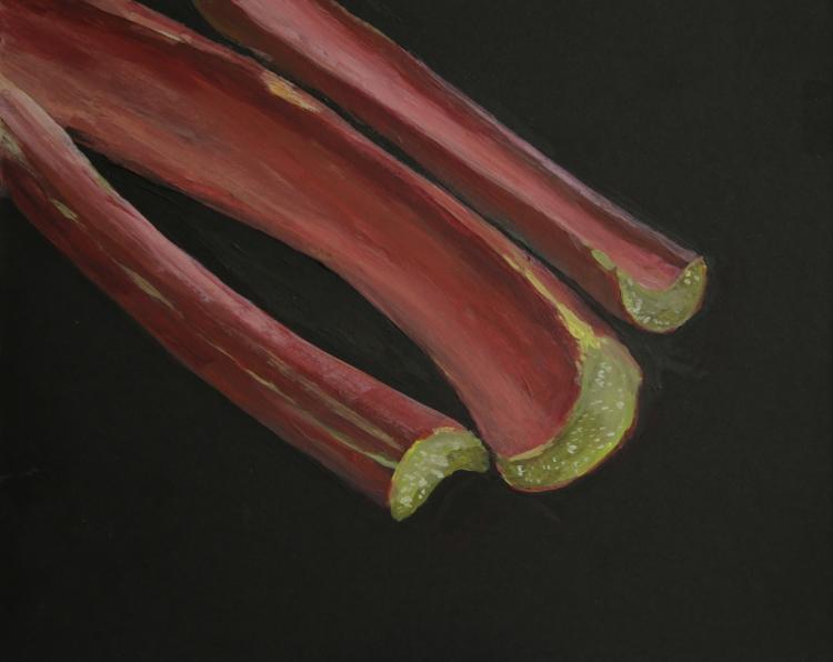 Rhubarb (Captains Avenue) - acrylic on board © Jonathan Brennan, 2017