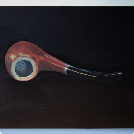 Ceci n'est pas une pipe. Acrylic on panel © Jonathan Brennan, 2019