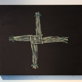 St Brigid's Cross, Ashton Avenue. Acrylic on panel © Jonathan Brennan, 2019