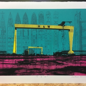 H & W - screenprint © Jonathan Brennan, 2017