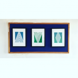 Mountain, Valley & Mountain Valley (triptych) - linocut on Fabriano © Jonathan Brennan, 2017