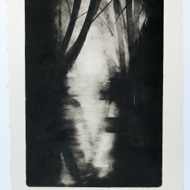Knock River. Monotype on Fabriano Rosaspina © Jonathan Brennan