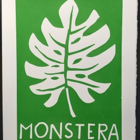 Monstera - screenprint © Jonathan Brennan, 2017