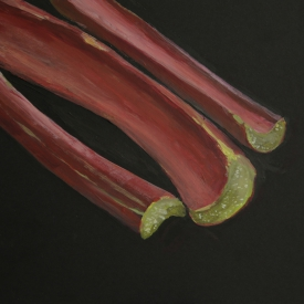 Rhubarb (Captains Avenue) - acrylic on board © Jonathan Brennan, 2017