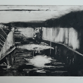 Under Sandown. Monotype on Fabriano Rosaspina © Jonathan Brennan