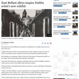 East Belfast alleys inspire Dublin artist's new exhibit