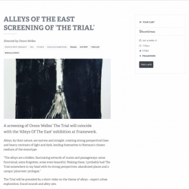 Alleys of the East Screening of 'The Trial'
