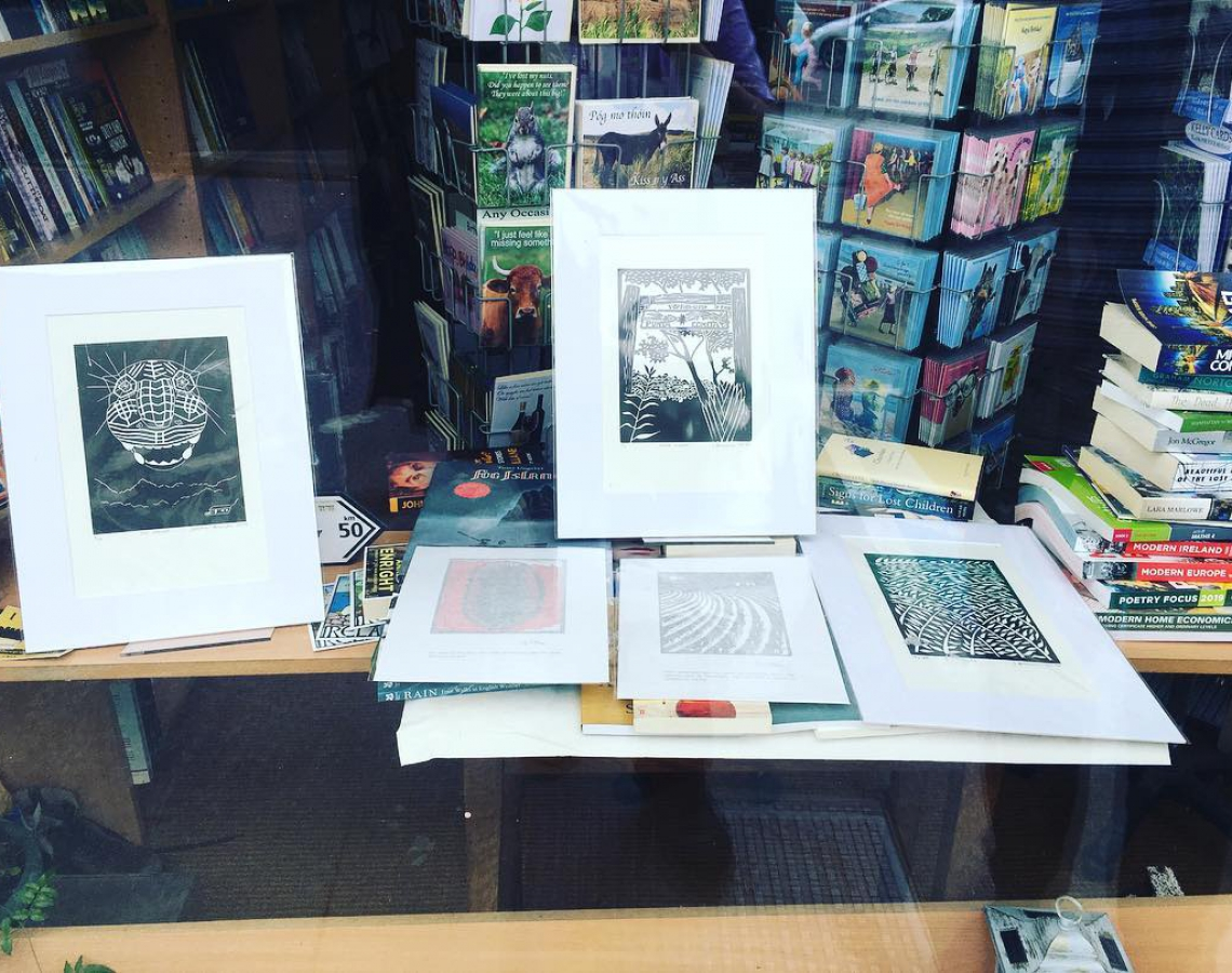 Guadalupe prints in The Bantry Bookshop © Jonathan Brennan